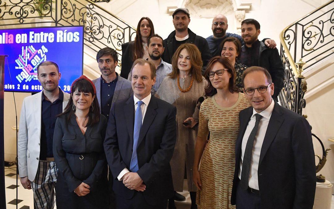 Bordet presentó la programación del FICER en la Embajada de Italia